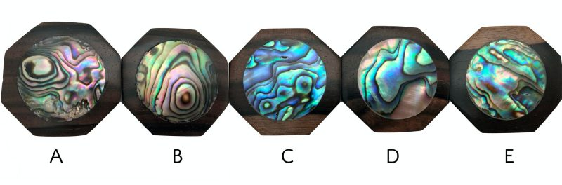 Abalone Shell Necklace - Abalone shell hexagon pendant options A E