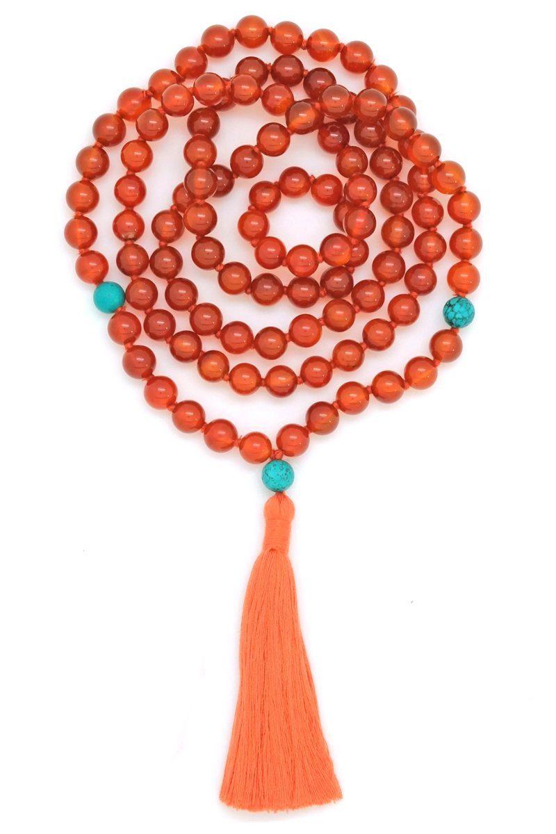 Carnelian Turquoise Mala - Kali Collection