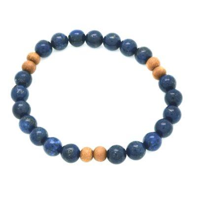 Lapis Sandalwood Bracelet