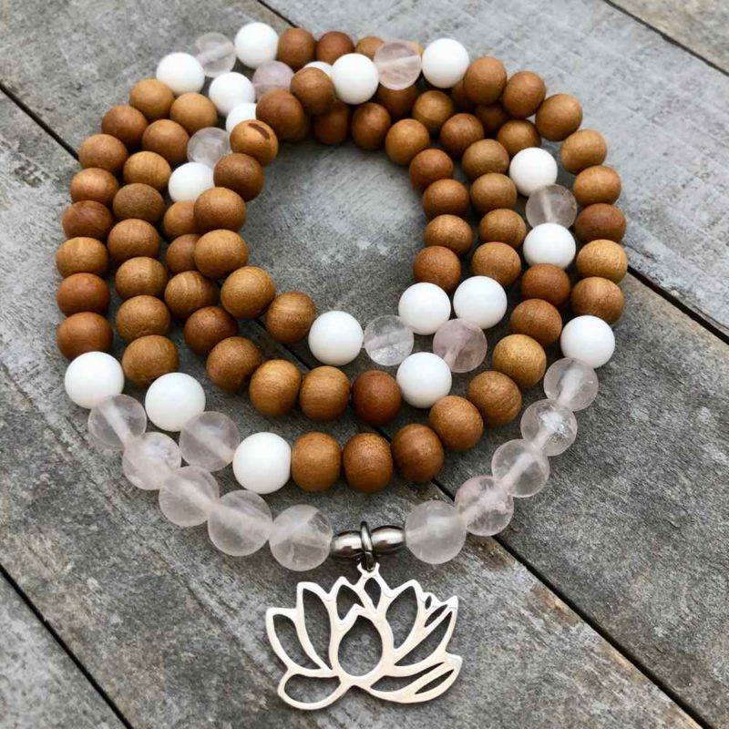 Lotus Love Mala Wrap Bracelet - Lotus Love Mala Wrap