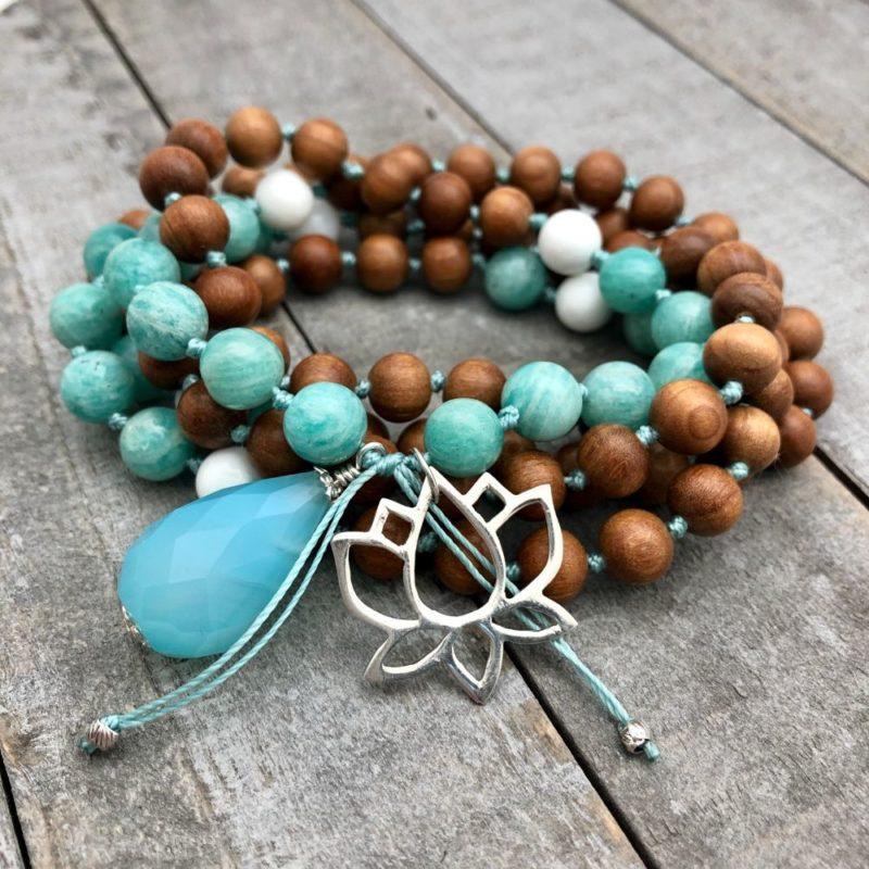 Lotus Rebirth Mala - Lotus Rebirth Prayer Beads