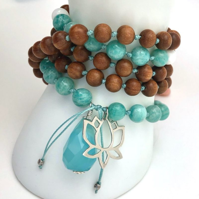 Lotus Rebirth Mala - Lotus Rebirth Wrap Bracelet