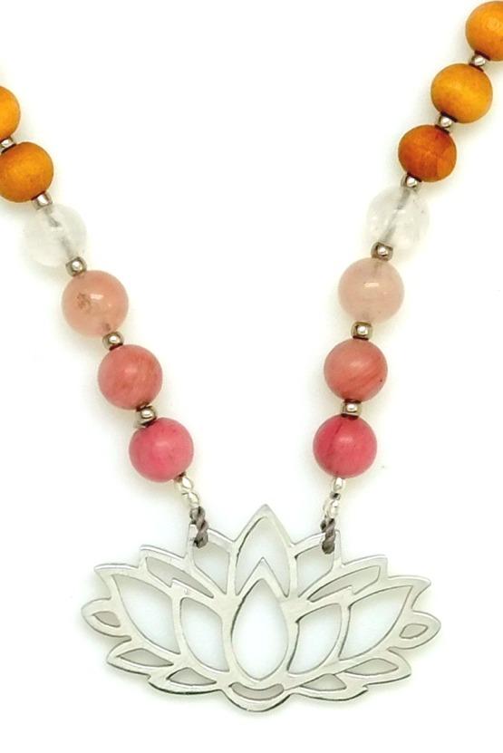 Pink Lotus Prayer Beads - Pink Lotus Sandalwood Devotion Mala cup