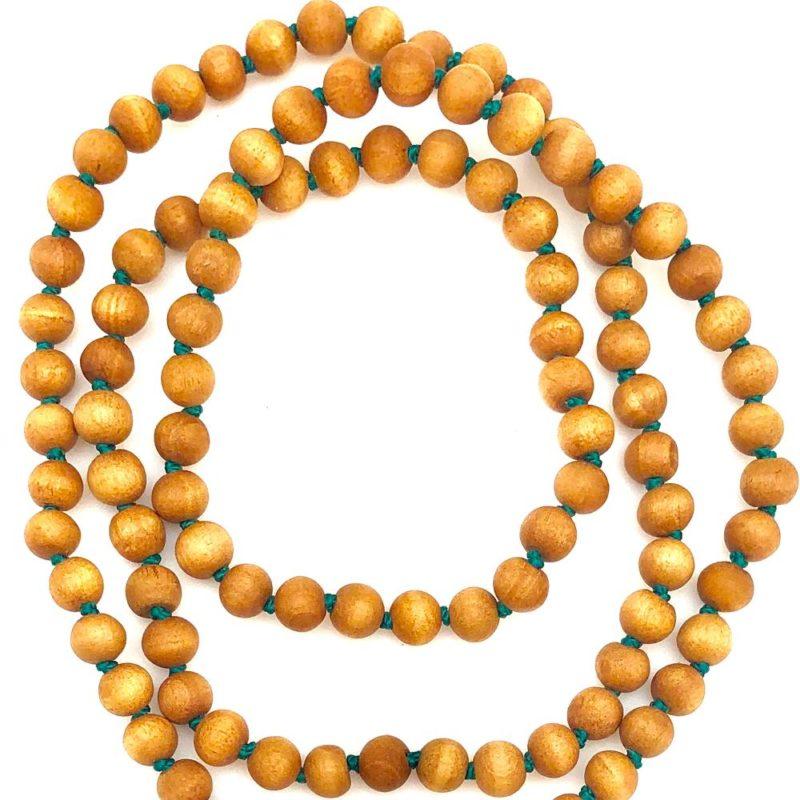 Sandalwood Beads green cord