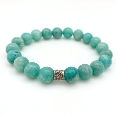 amazonite leaf bracelet