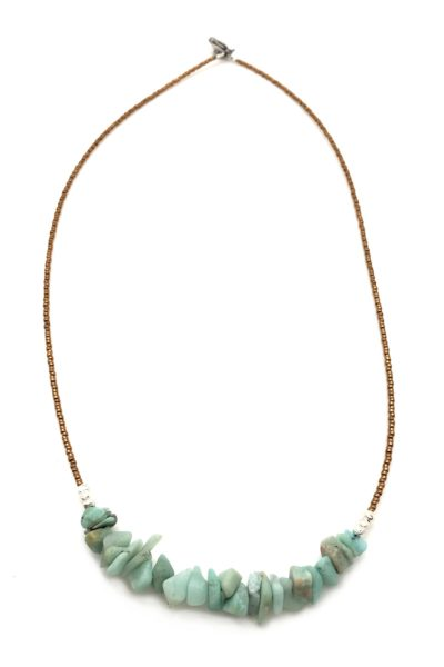 amazonite primal necklace