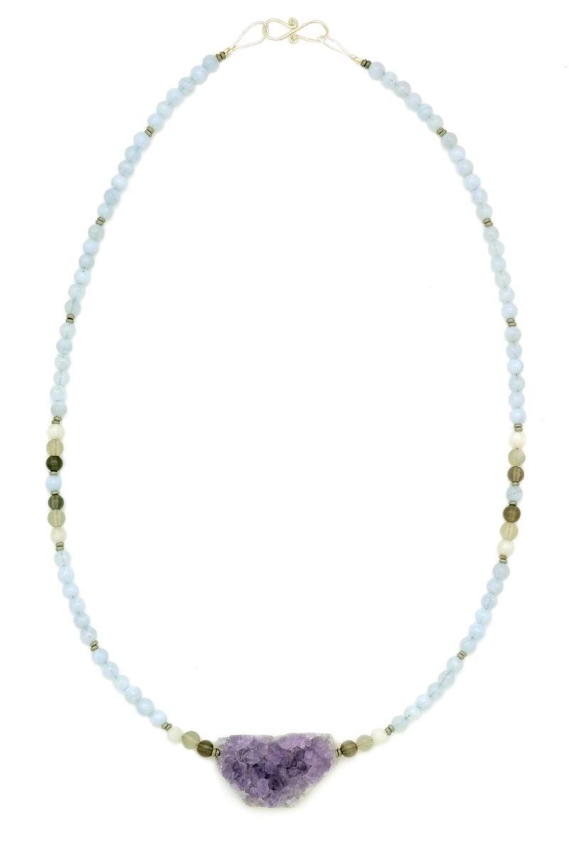amethyst druzy necklace