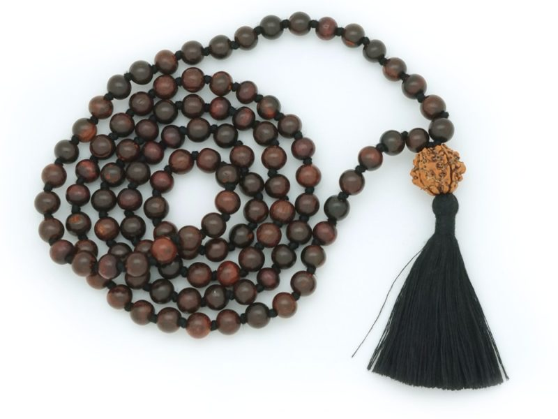 Spiritual Power Mala - black rosewood Shiva mala