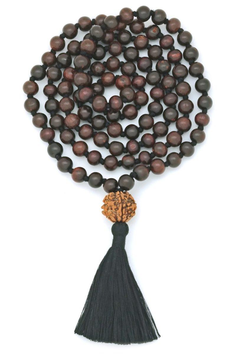 black rosewood rudraksha mala