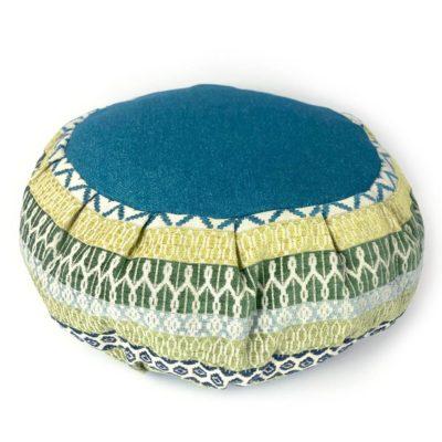 blue green meditation cushion