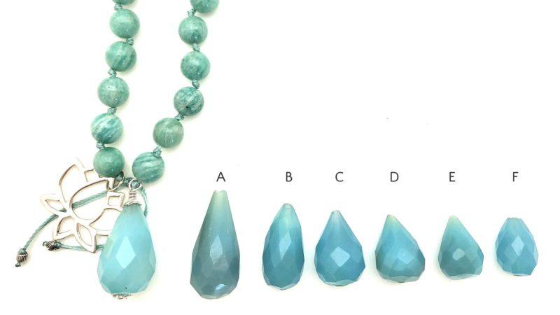 Lotus Rebirth Mala - choice of gemstone