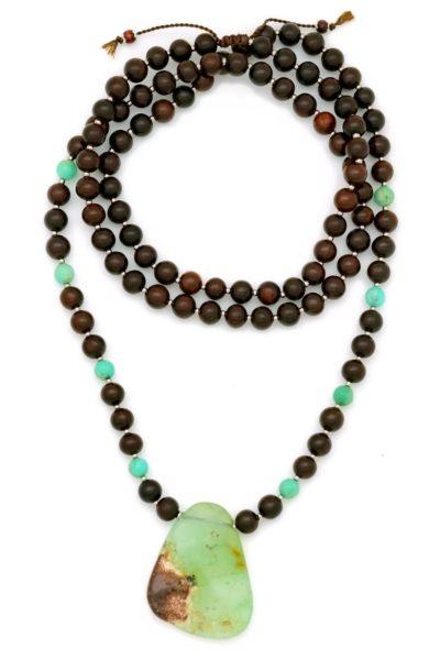 chrysoprase necklace pendant