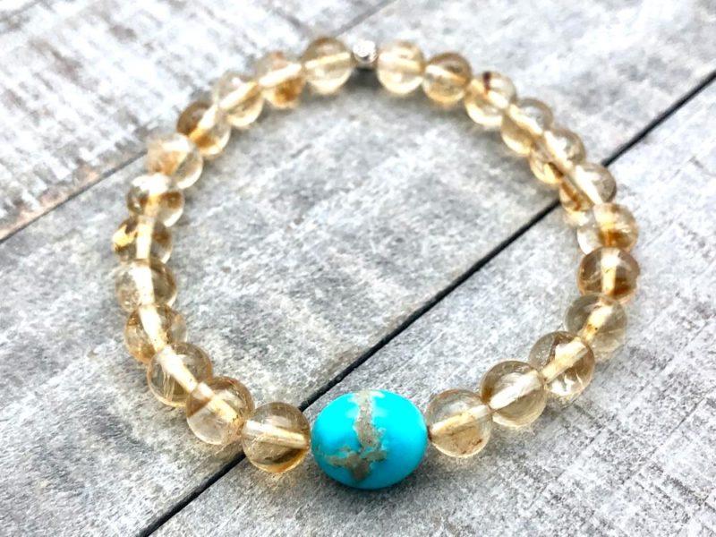 citrine & American turquoise bracelet