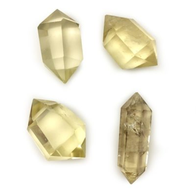 citrine double point crystals