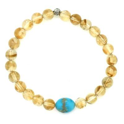 citrine & turquoise bracelet