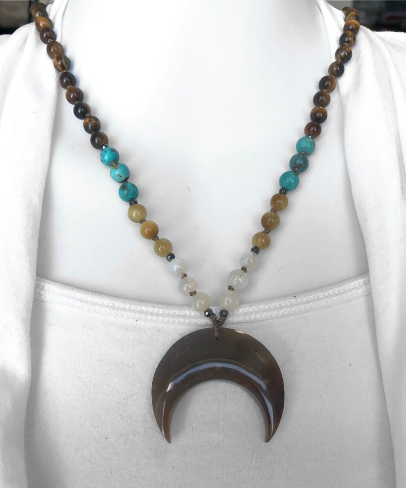 Ancestral Moon Necklace - crescent moon necklace