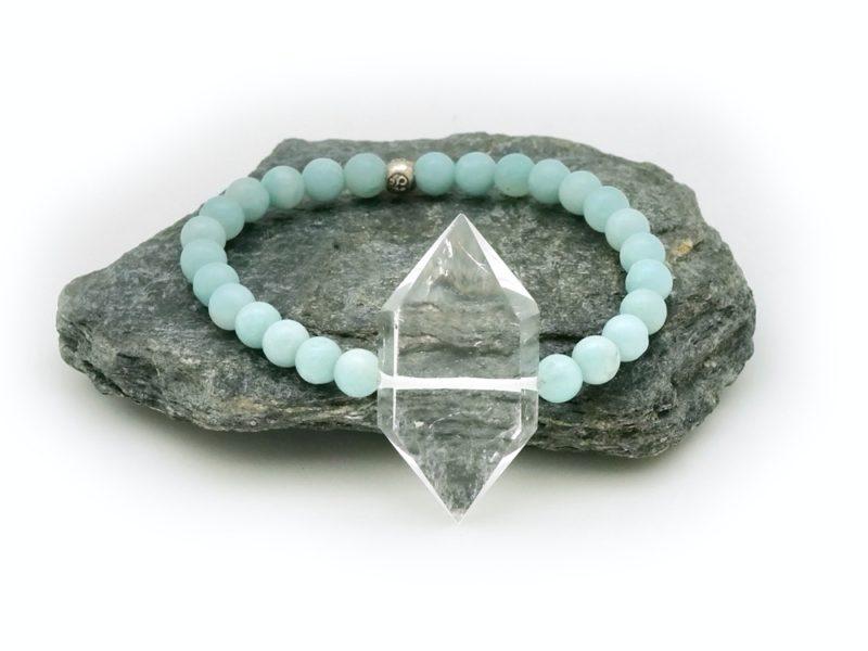 crystal amazonite bracelet