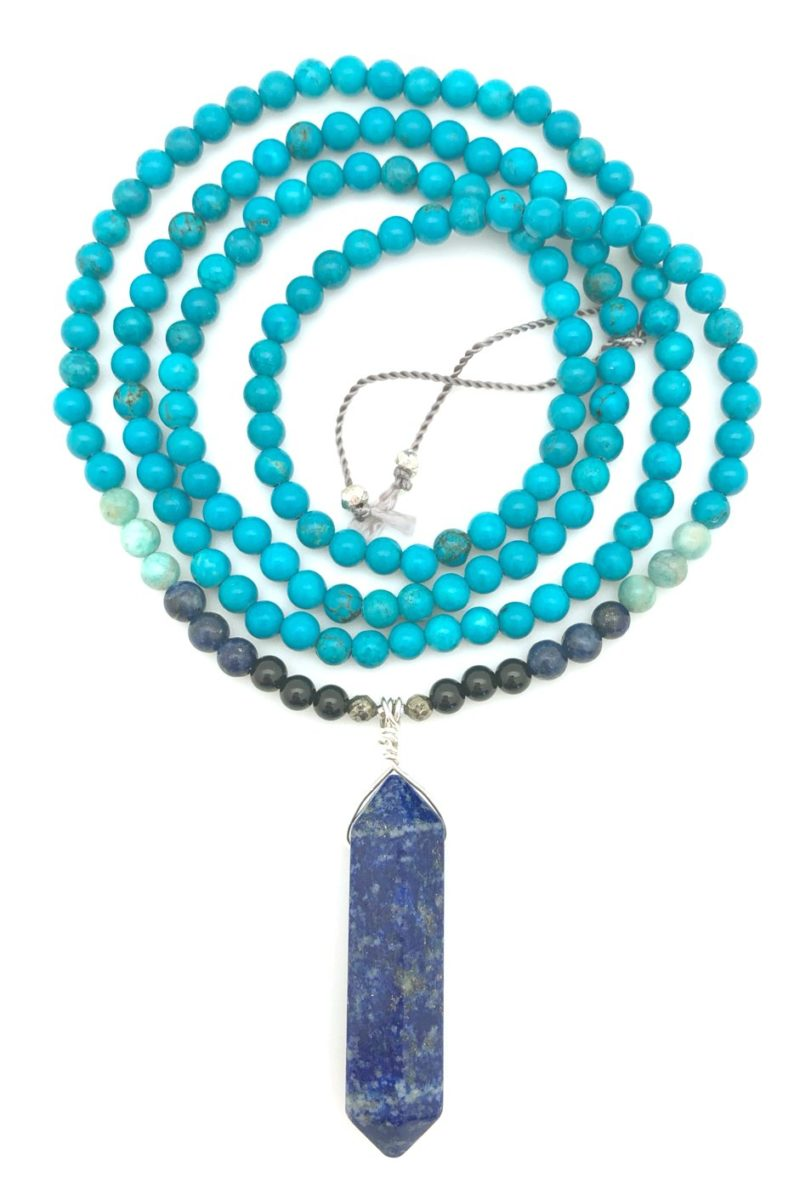 double terminated lapis point necklace