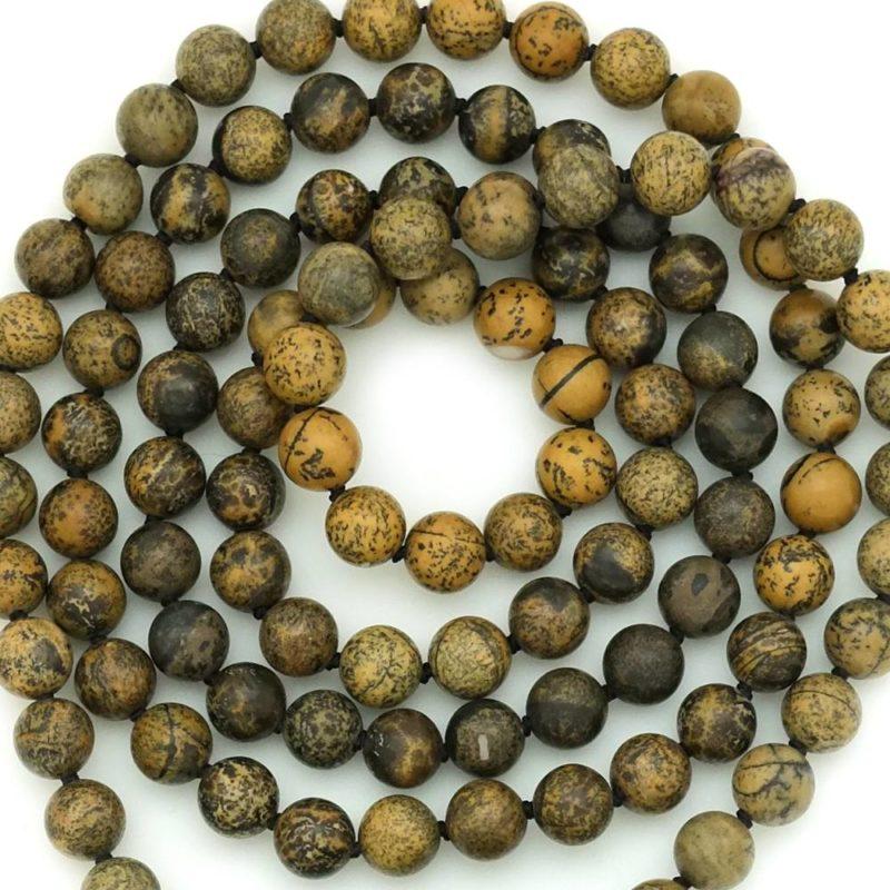 dragon mala jasper beads