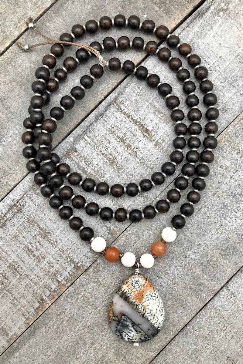 ebony jasper pendant necklace