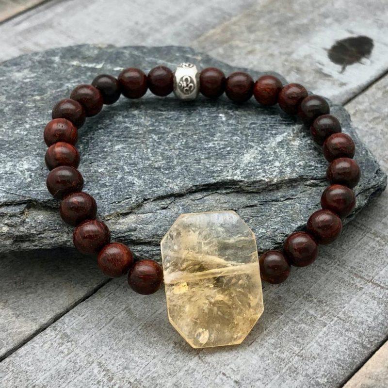 faceted citrine bracelet rosewood