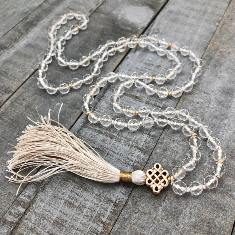 Srivatsa Mala - gold Buddhist knot mala
