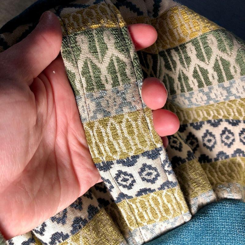 green zafu cushion handle