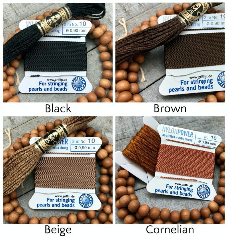 Sandalwood Mala Kit - griffin dmc black beige