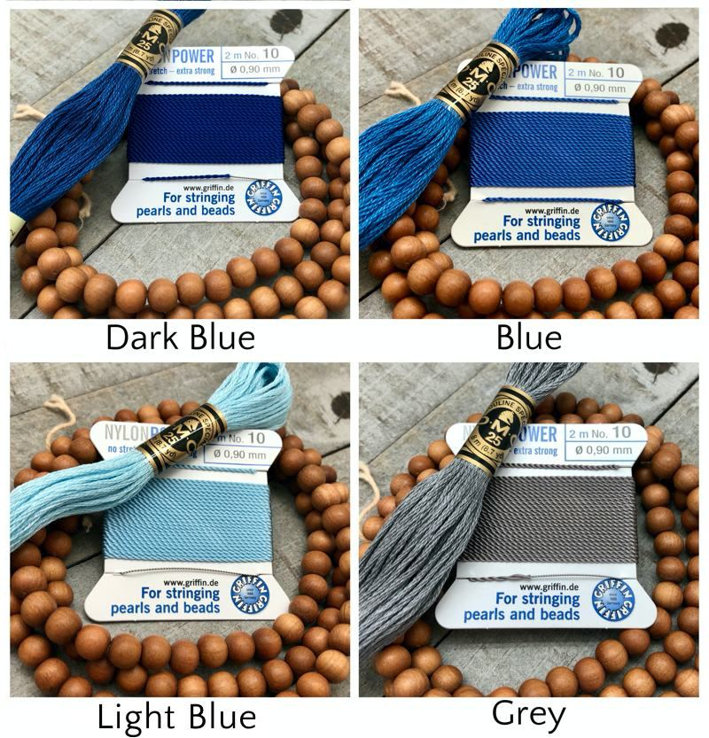 Sandalwood Mala Kit - griffin dmc blues grey