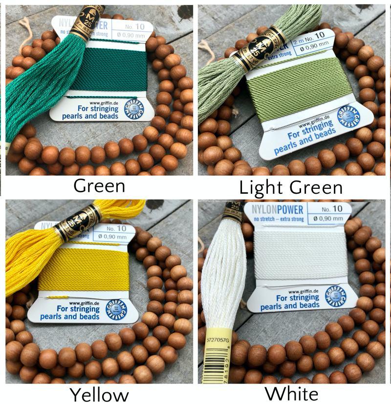 Sandalwood Mala Kit - griffin dmc green white