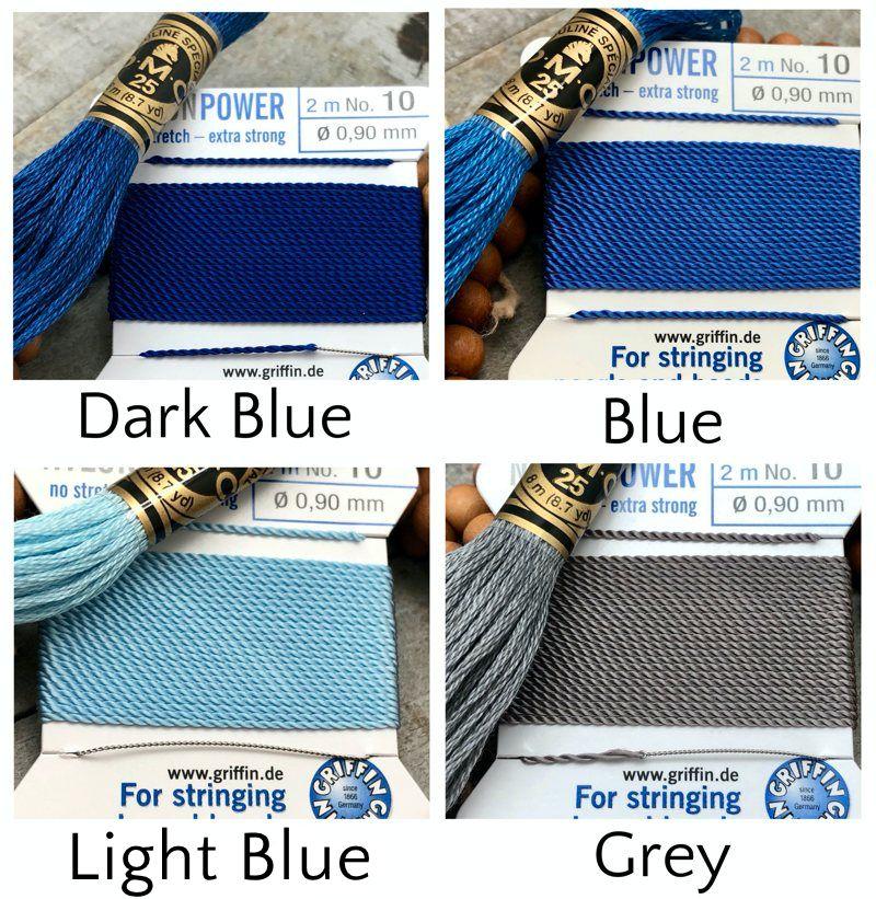 Rudraksha Mala Kit - griffin dmc mala kit v2 blue grey