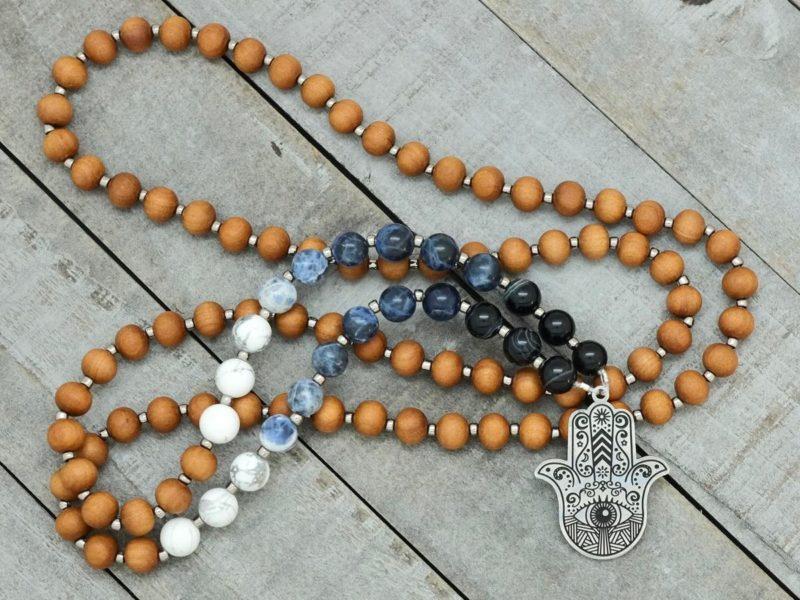 hamsa prayer necklace