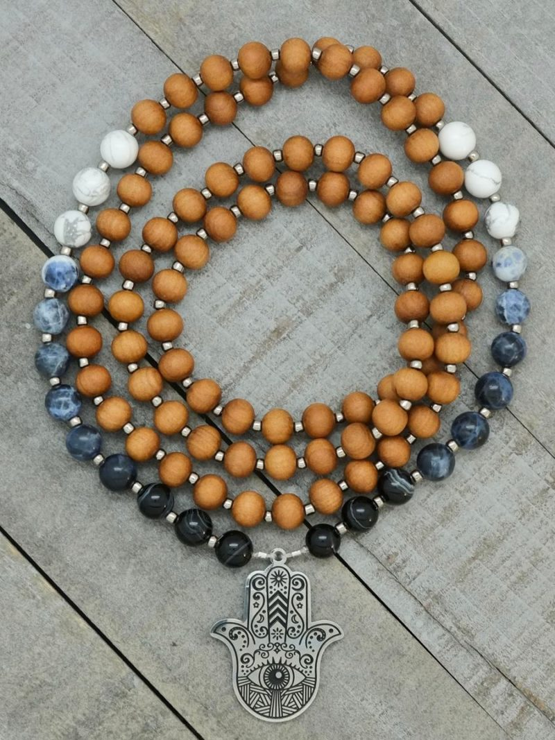 hamsa sandalwood prayer beads