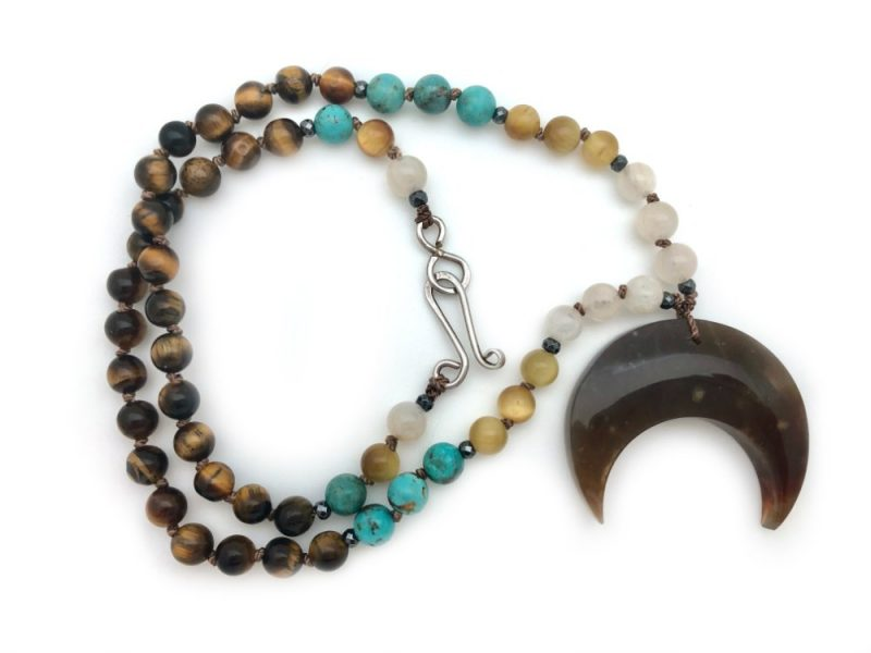 Ancestral Moon Necklace - knotted horn necklace