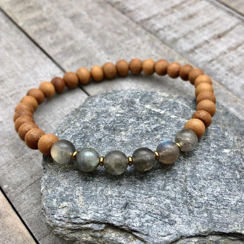 labradorite sandalwood bracelet