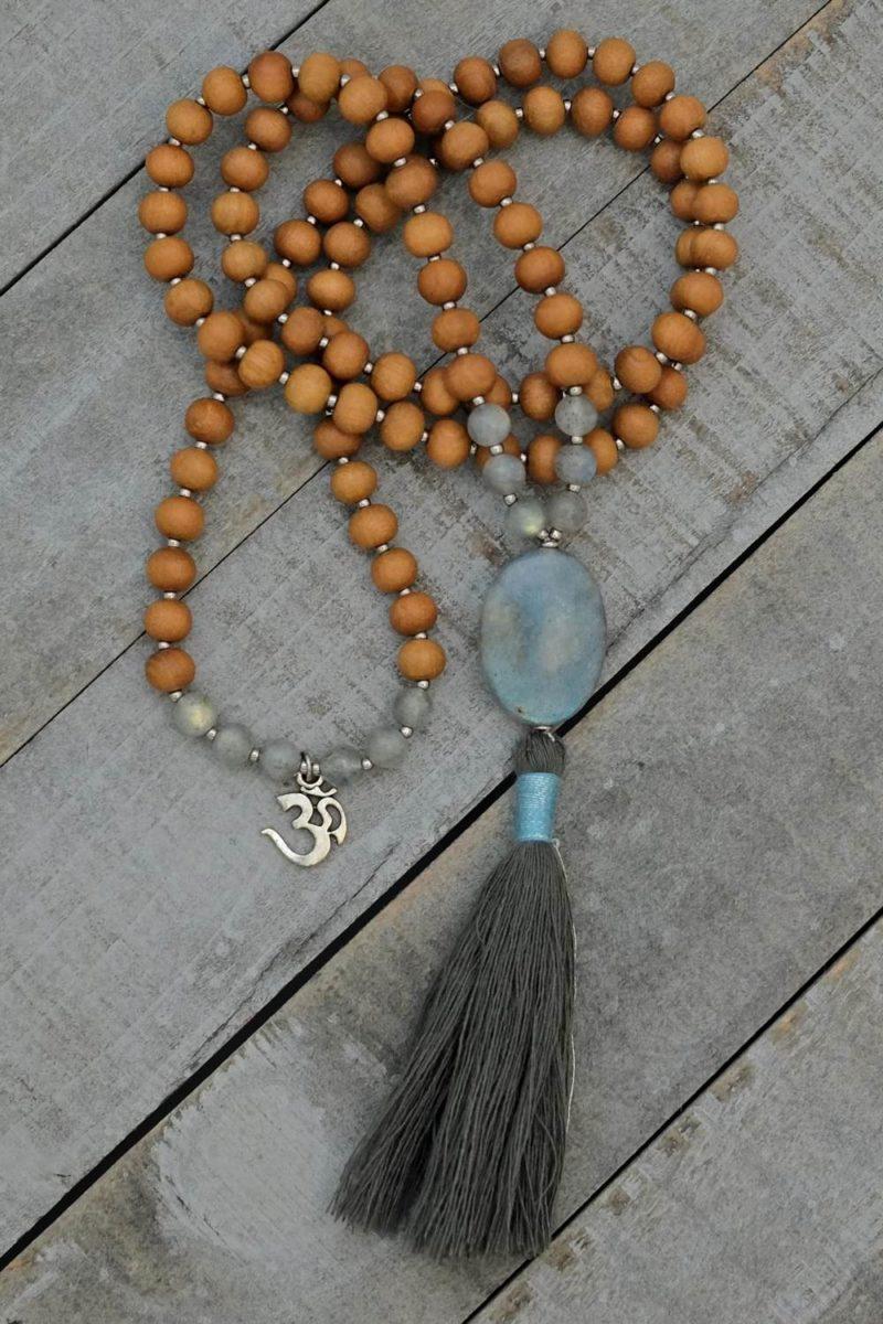 labradorite sandalwood prayer beads