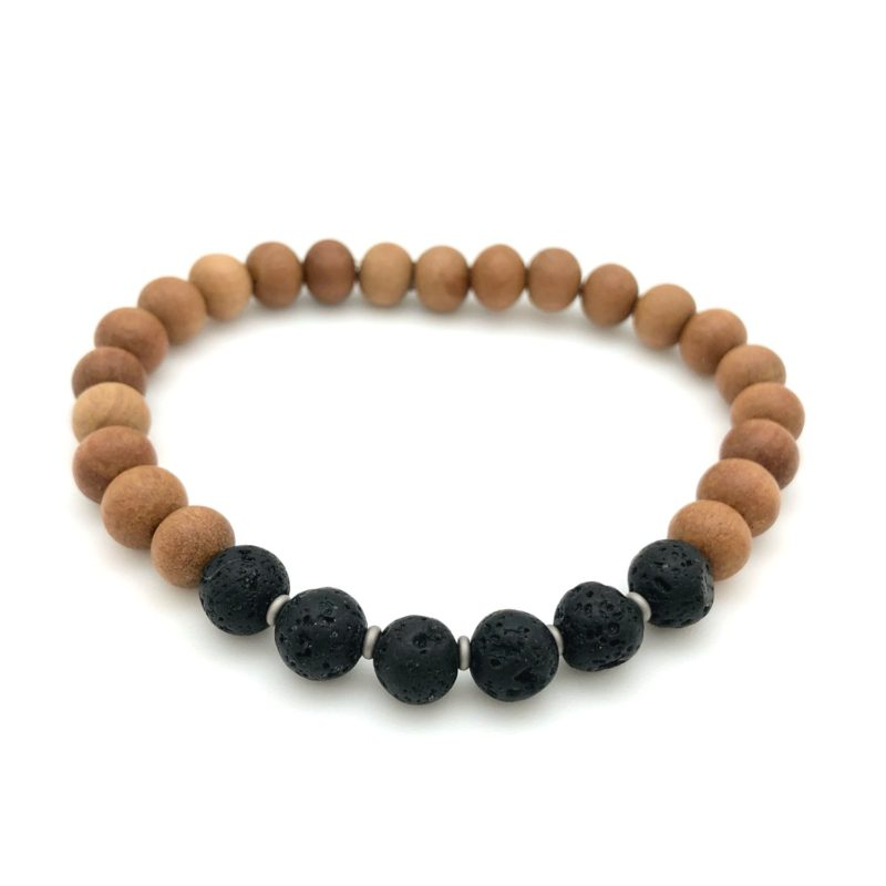 Lava Sandalwood Bracelet - lava sandalwood bracelet