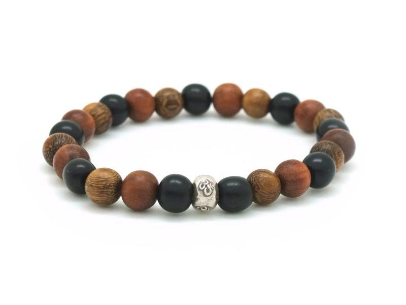 om tri wood bracelet