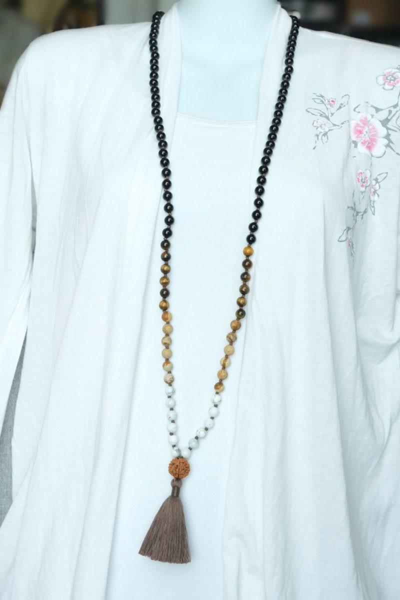 Justice & Unity Mala - onyx unity mala necklace