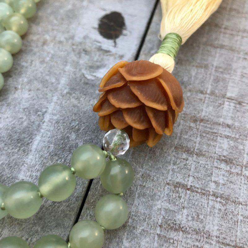 Prosperity Lotus Mala - prosperity lotus mala top down guru bead