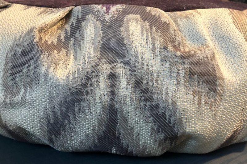 Purple Meditation Cushion - purple zafu side