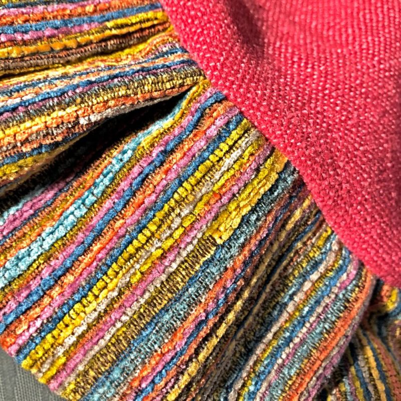 rainbow zafu closeup