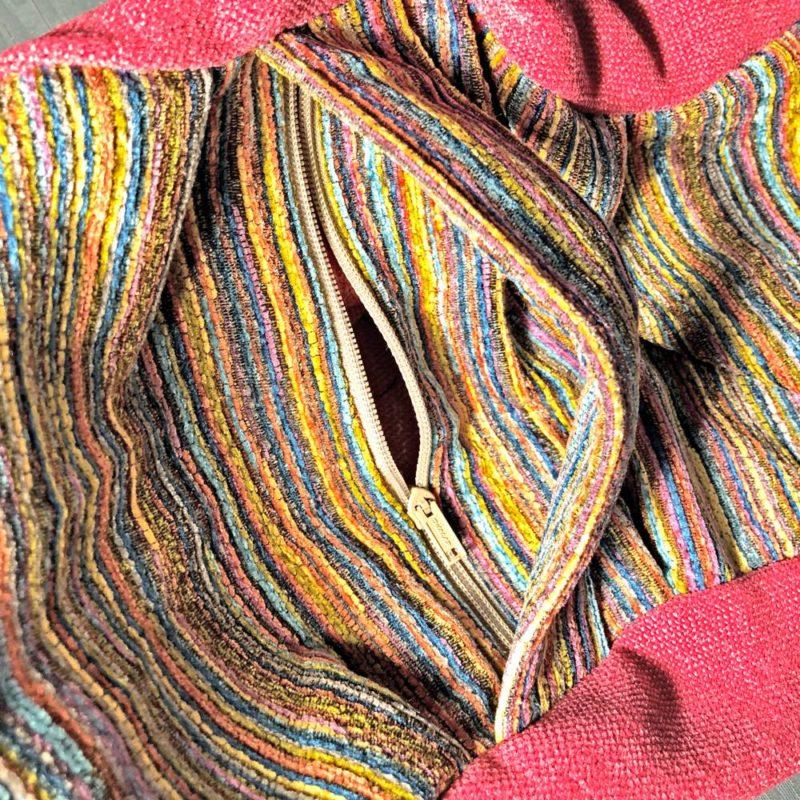 rainbow zafu zipper