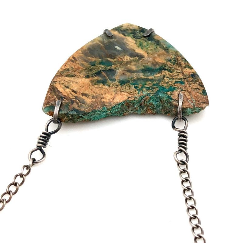 The Forager Necklace - raw edge of stone necklace