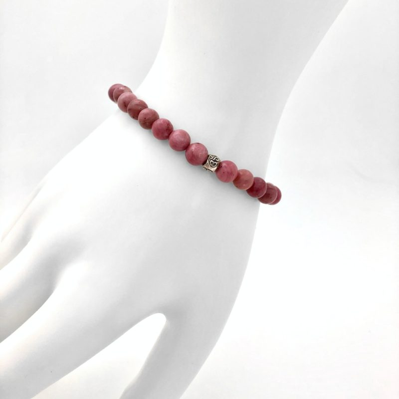 Rhodonite OM Bracelet - rhodonite om bracelet worn
