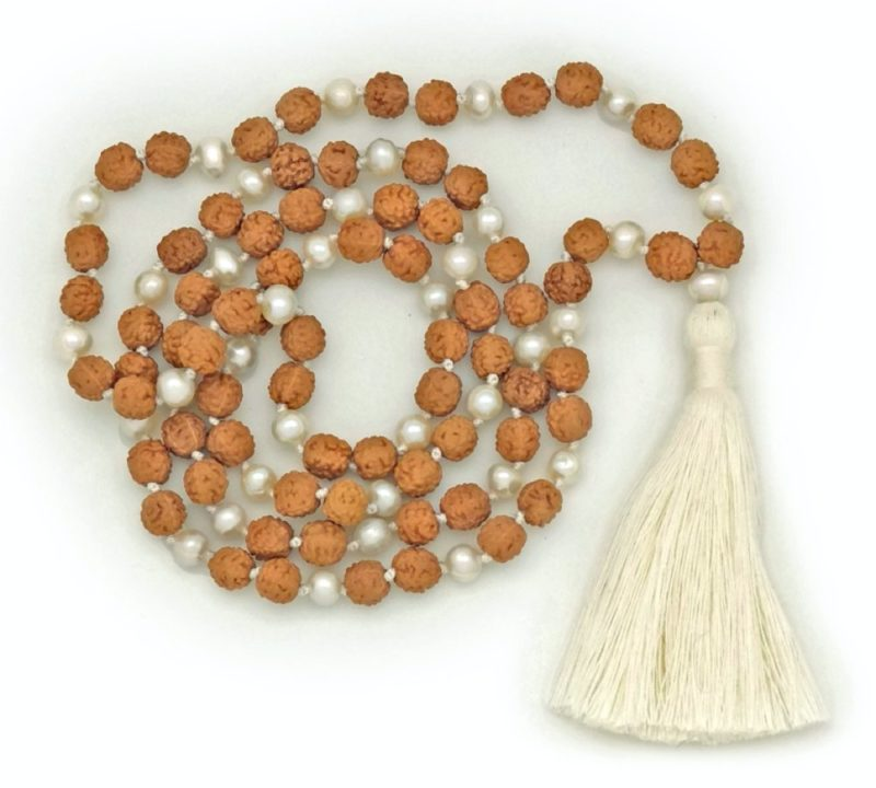 Rudraksha Pearl Mala - rudraksha pearl mala 6mm