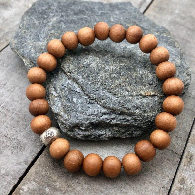 Sandalwood Om Bracelet - sanalwood om bracelet