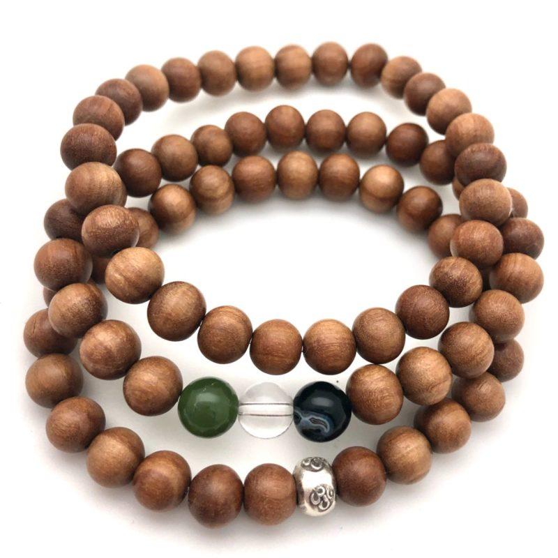 sandalwood 3 bracelet stack
