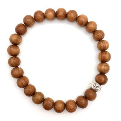 Bracelets & Wrist Malas - sandalwood bracelet om bead