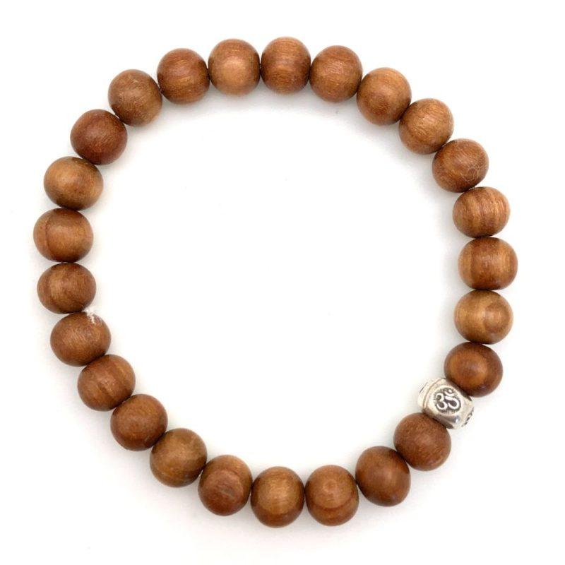 Sandalwood Om Bracelet - sandalwood bracelet om bead